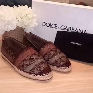 Dolce and Gabbana Woven Leather Esperilldas